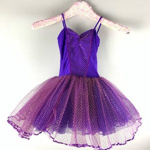Purple and Gold Witch Tutu